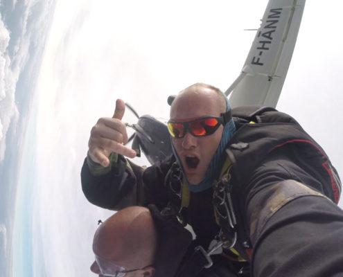 parachute en tandem